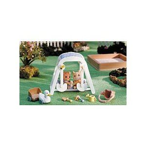 Calico Critters Peaches and Freddy's Swing n Play
