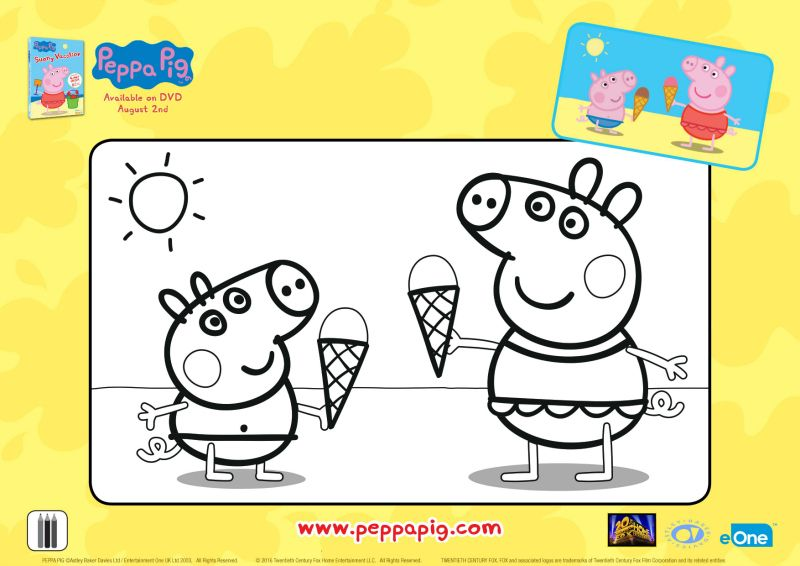 Peppa Pig Ice Cream Cones Coloring Page Peppa Pig Coloring Pages Peppa Pig Colouring Peppa Pig