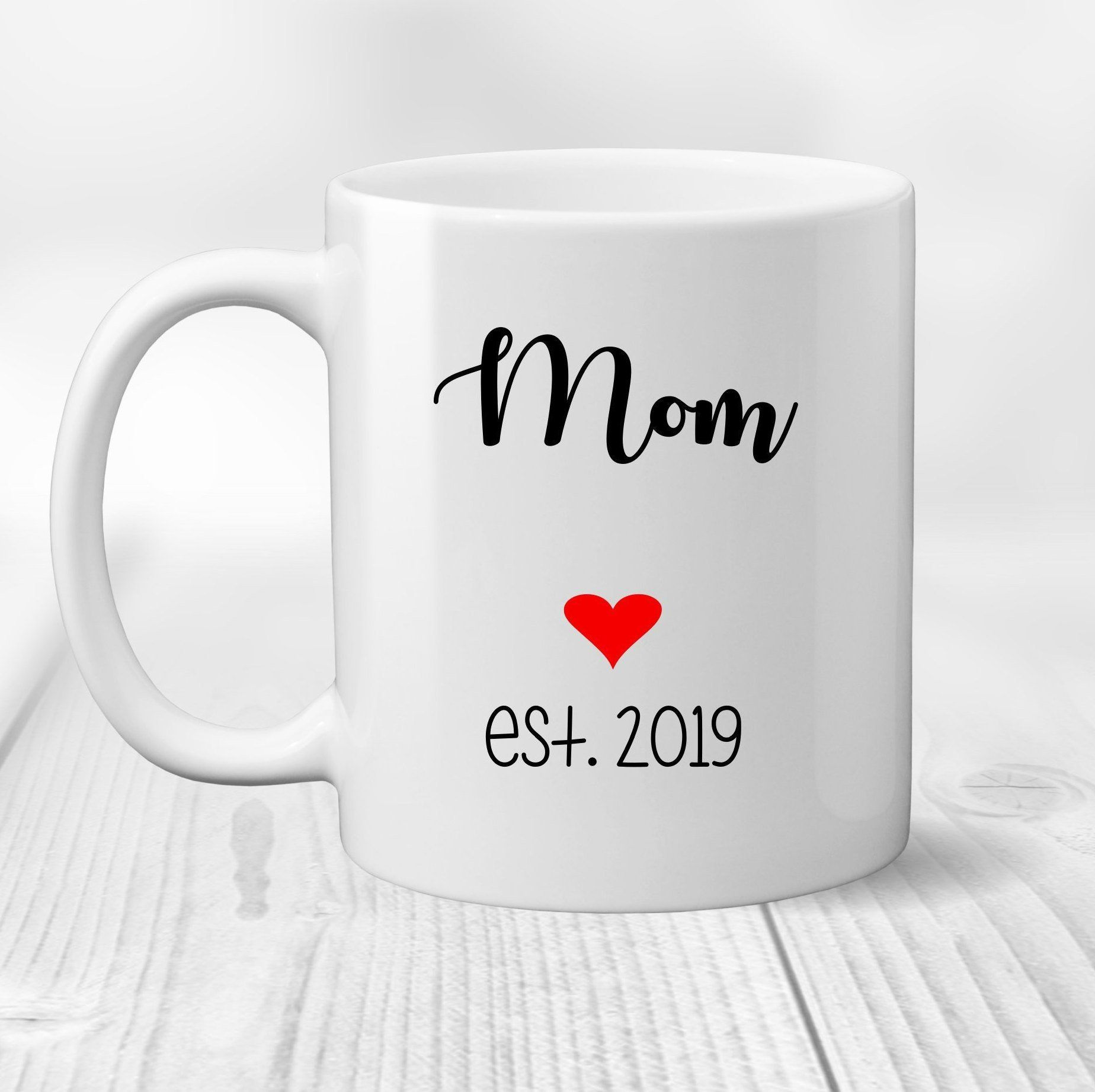 First mothers day gift coffee mug for new mom mothers