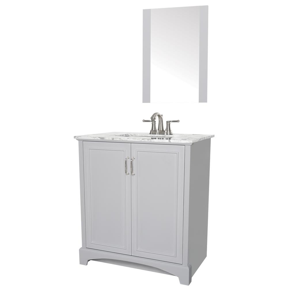 Sheffield Home Madison 30 In W X 19 In D Bath Vanity In Gray