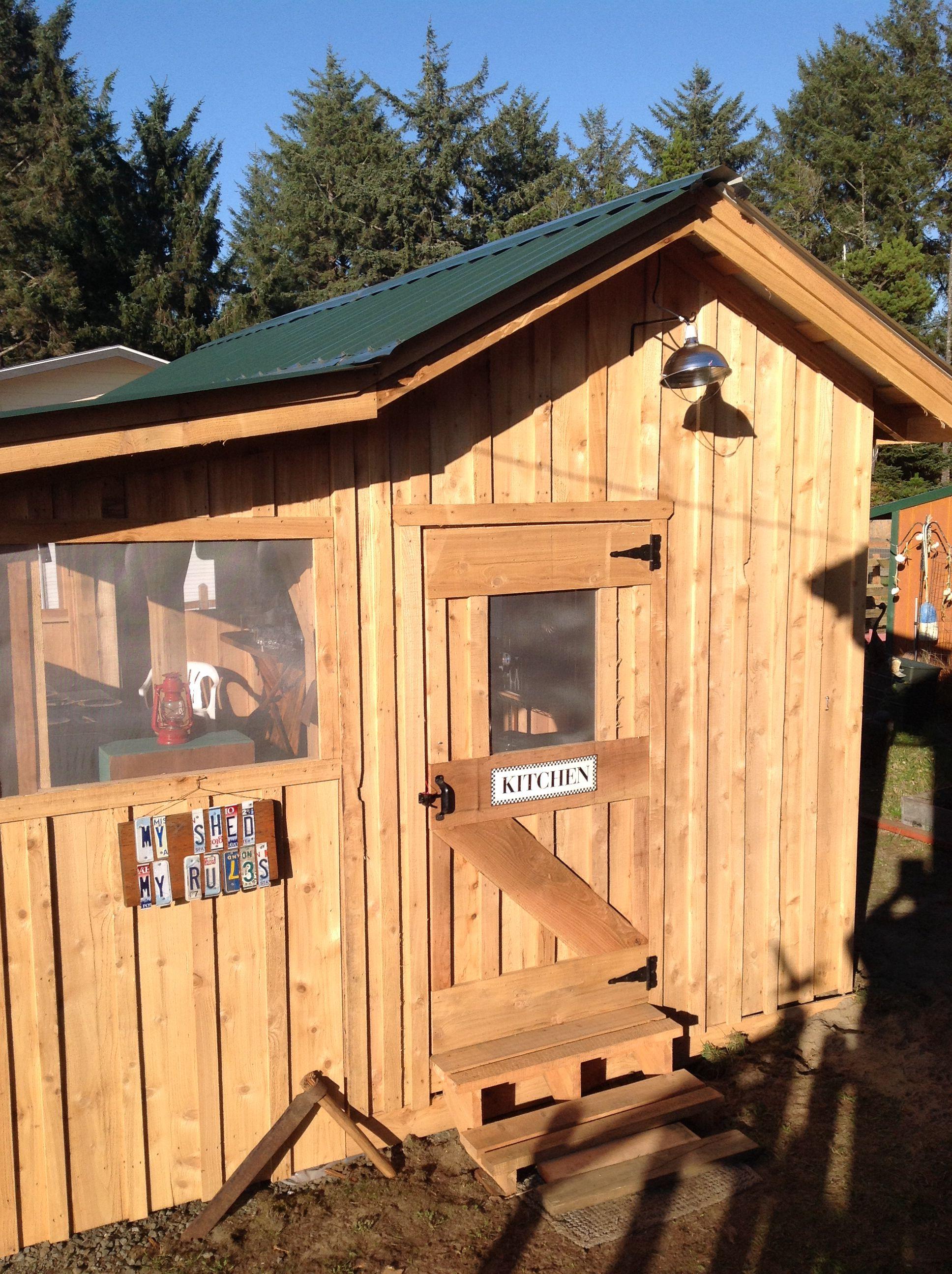 Backyard clubhouse   Backyard, Backyard for kids, Rustic deck