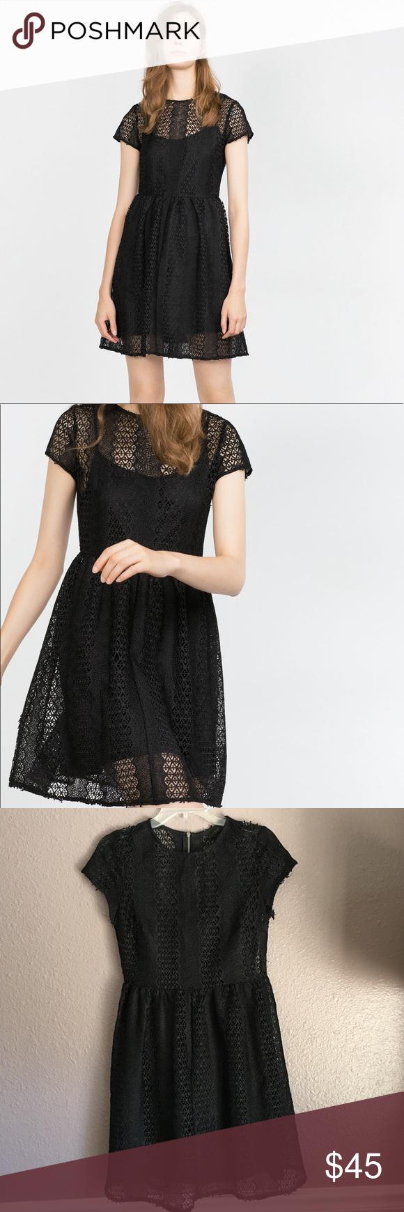 Black Zara Guipure Lace Dress Gorgeous Black Guipure Lace Dress From Zara Fun And Flirty With Flounce Skirt Sheer Top Gorgeous Dresses Clothes Design Dresses [ 1740 x 580 Pixel ]