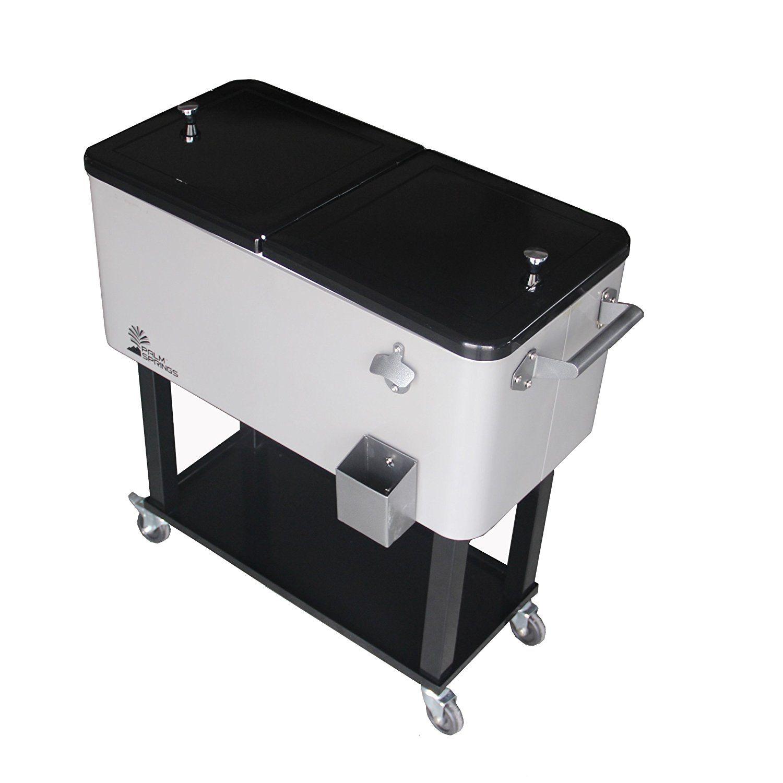 outdoor beverage cooler cart