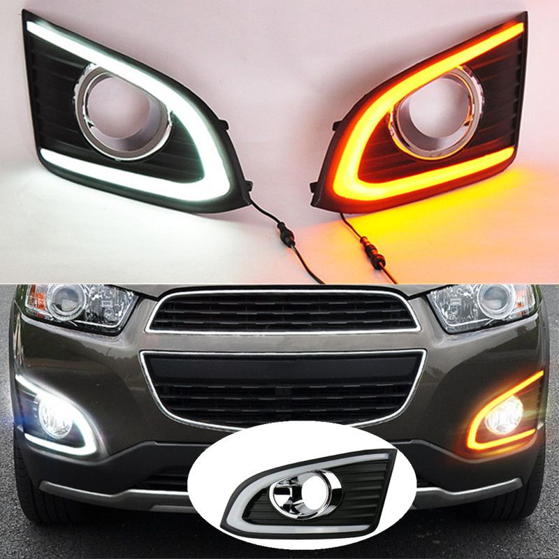 Led Drl With Turn Light Function Top Quality Super Bright For Chevrolet Chevy Captiva 2014 2015 2016 Daytime Running Light Car Lights Running Lights Turn Light