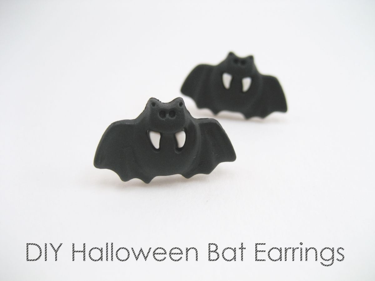 Diy How To Make Bat Earrings Using Ons Easy Craft With Tutorial Steps Get Ready For