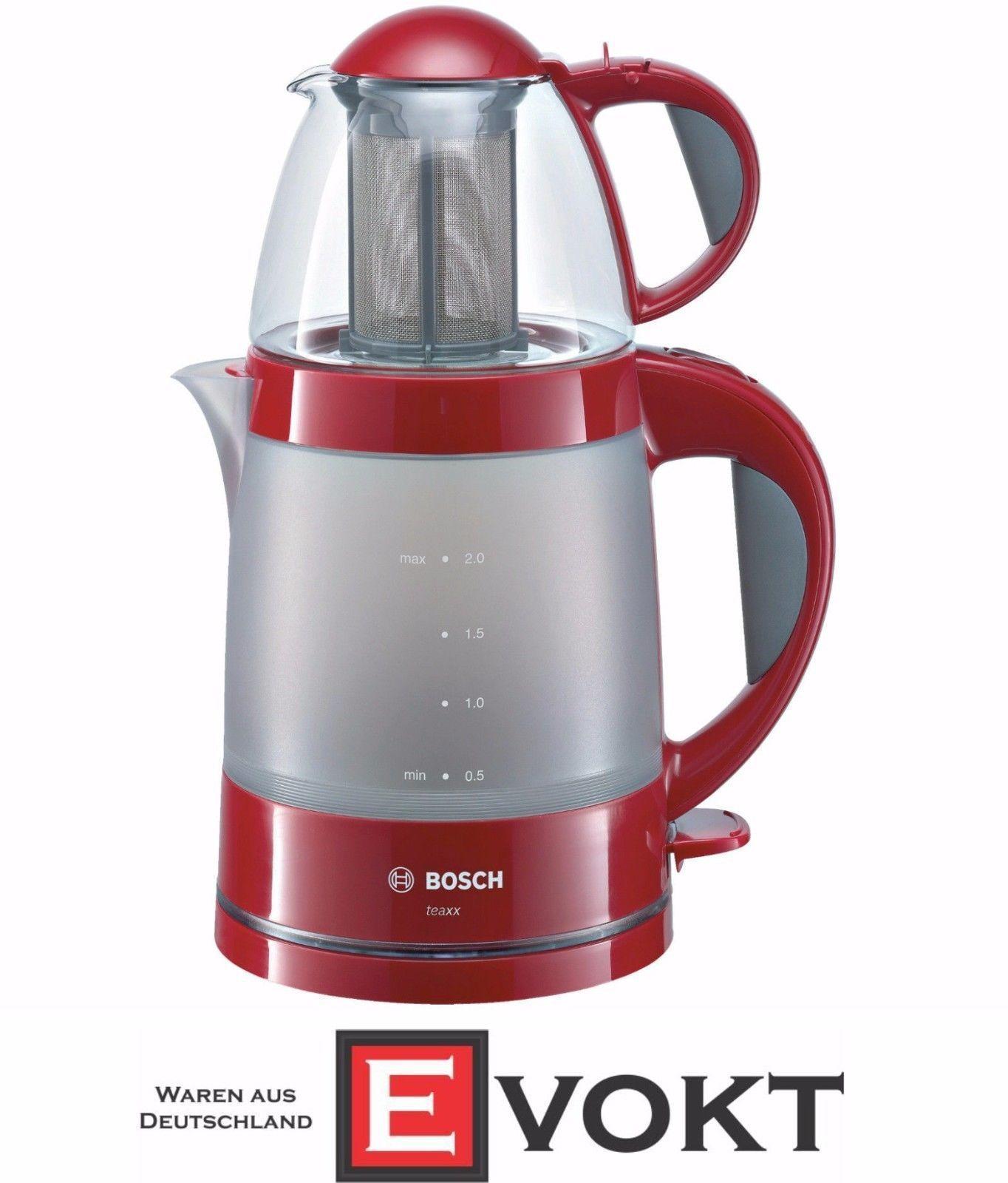 Bosch Teaxx TTA2010 Tea Maker Red Teapot 1785W Keep Warm Function GENUINE NEW