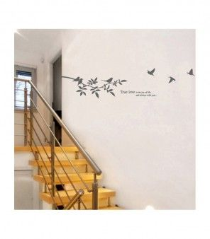 Listen to song of these still, lonely birds every morning when you wake up! This grey wall art that features a tree branch on which a few birds are perched and a few more flying towards and away from it, this is great for your bed room wall and even your living room.