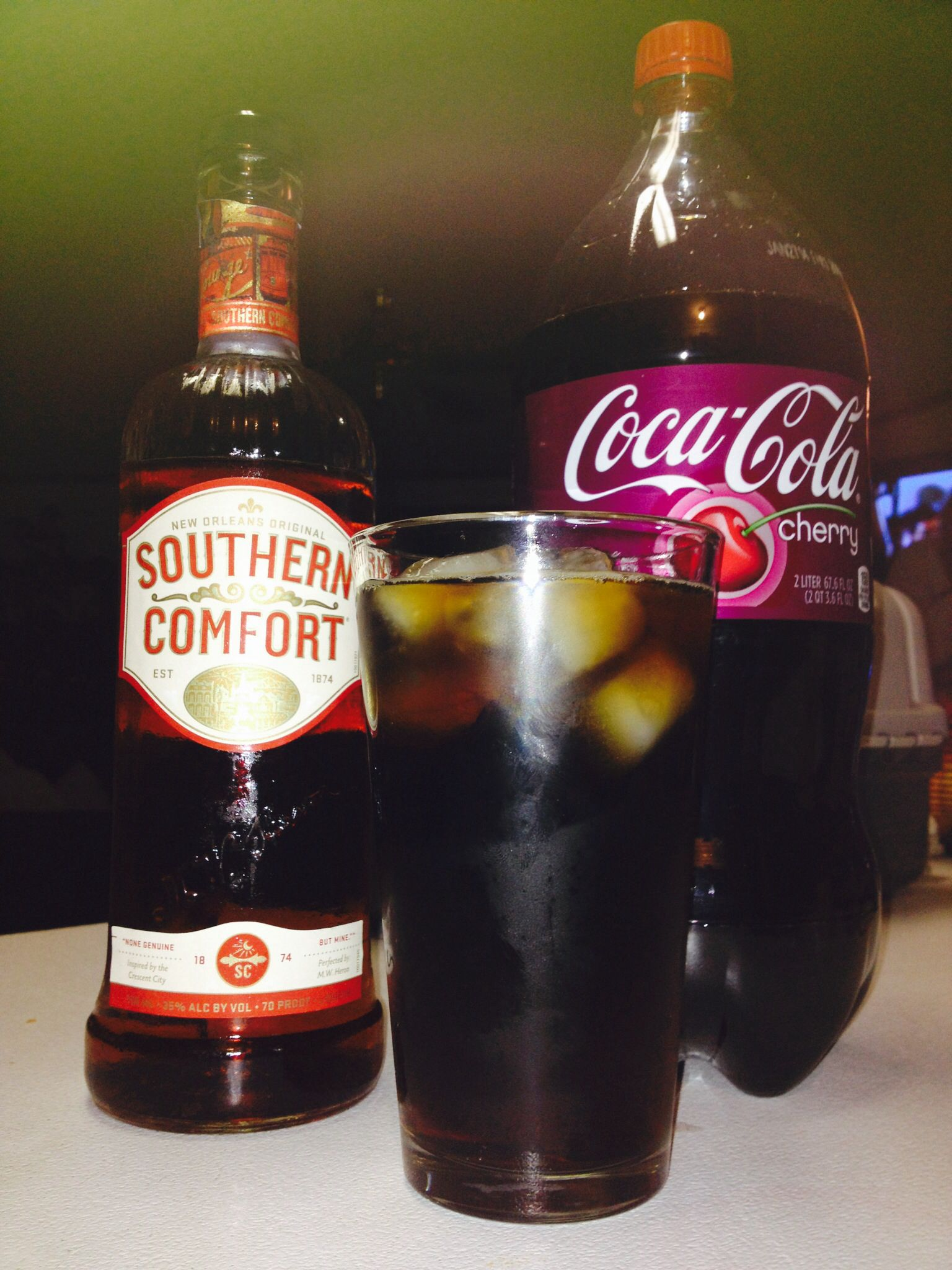Southern Comfort Cherry Coke Good Times Liquor Drinks Drinks Southern Comfort