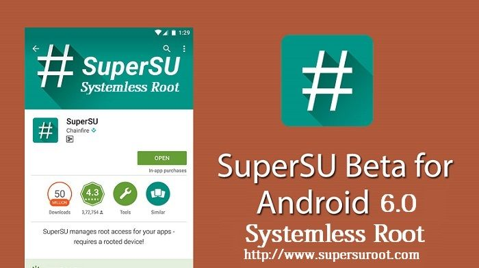 SuperSU Root Beta has recently released by Chainfire with systemless