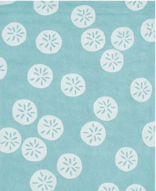 Project Nursery This Aquamarine Sand Dollar Rug Makes My Mind Wander To The Ocean Organic Placement Of Motifs Gives Piece A
