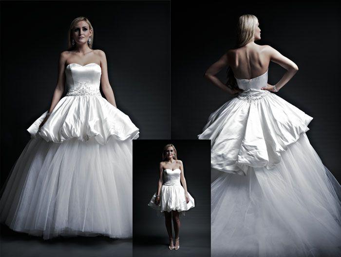 The Tulle Skirt Removes Turning Dropped Waist Bubble Hem Into A Mini Dress