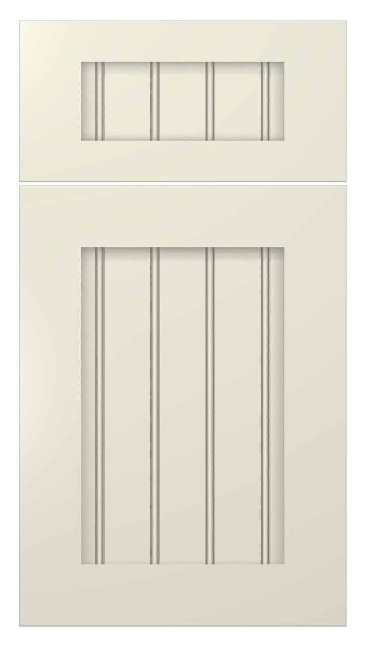 shaker beaded door style :: painted :: antique white #kitchen ...