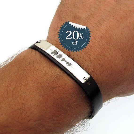sound wave bracelet mens