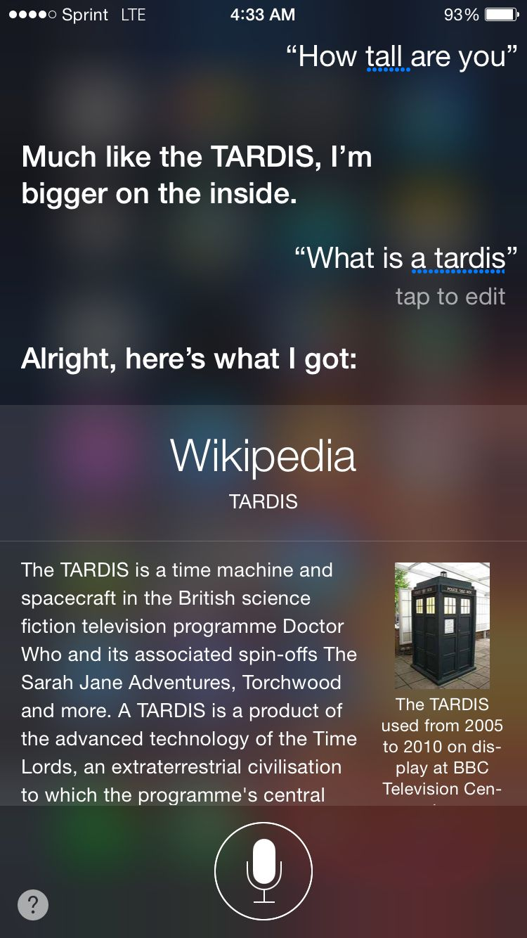 What Siri Has A Doctor Who Easter Egg My Nerd Side Pinterest Circuit Will Makes Things