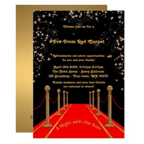 Pre Prom Invitation Pre Prom Red Carpet 15th 16th