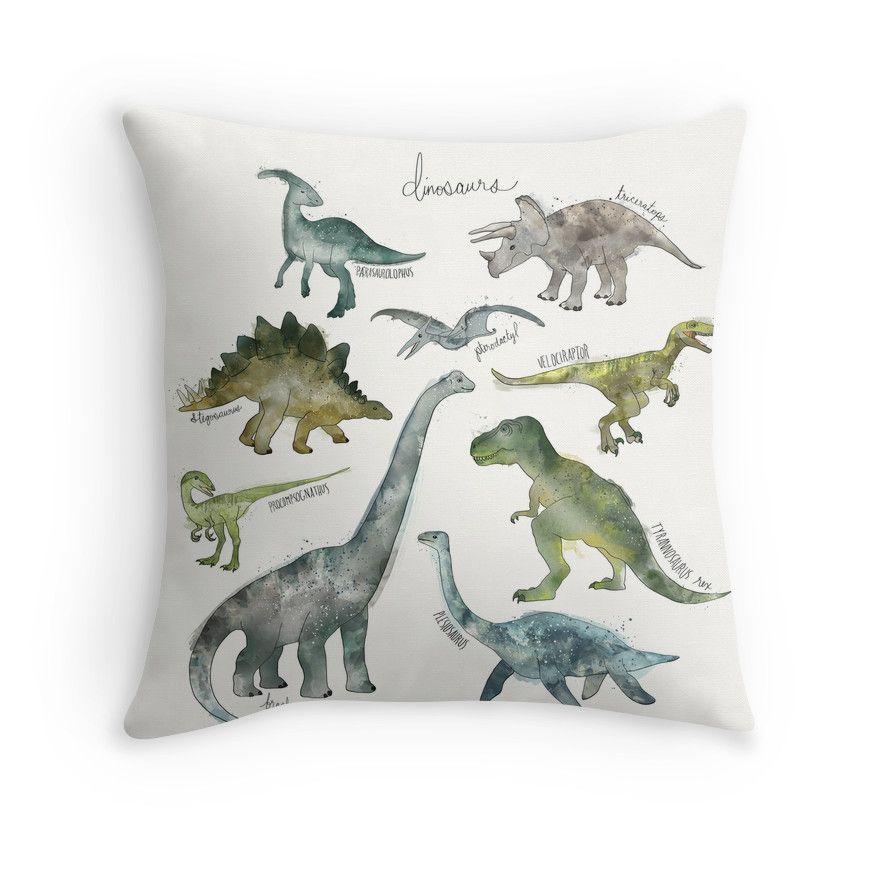 Dinosaurs Throw Pillow By Amy Hamilton Boys Shower Curtain