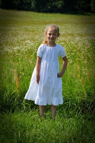 7750c6235 Nothing as lovely as a girl in white!Girls White Peasant Dress ...