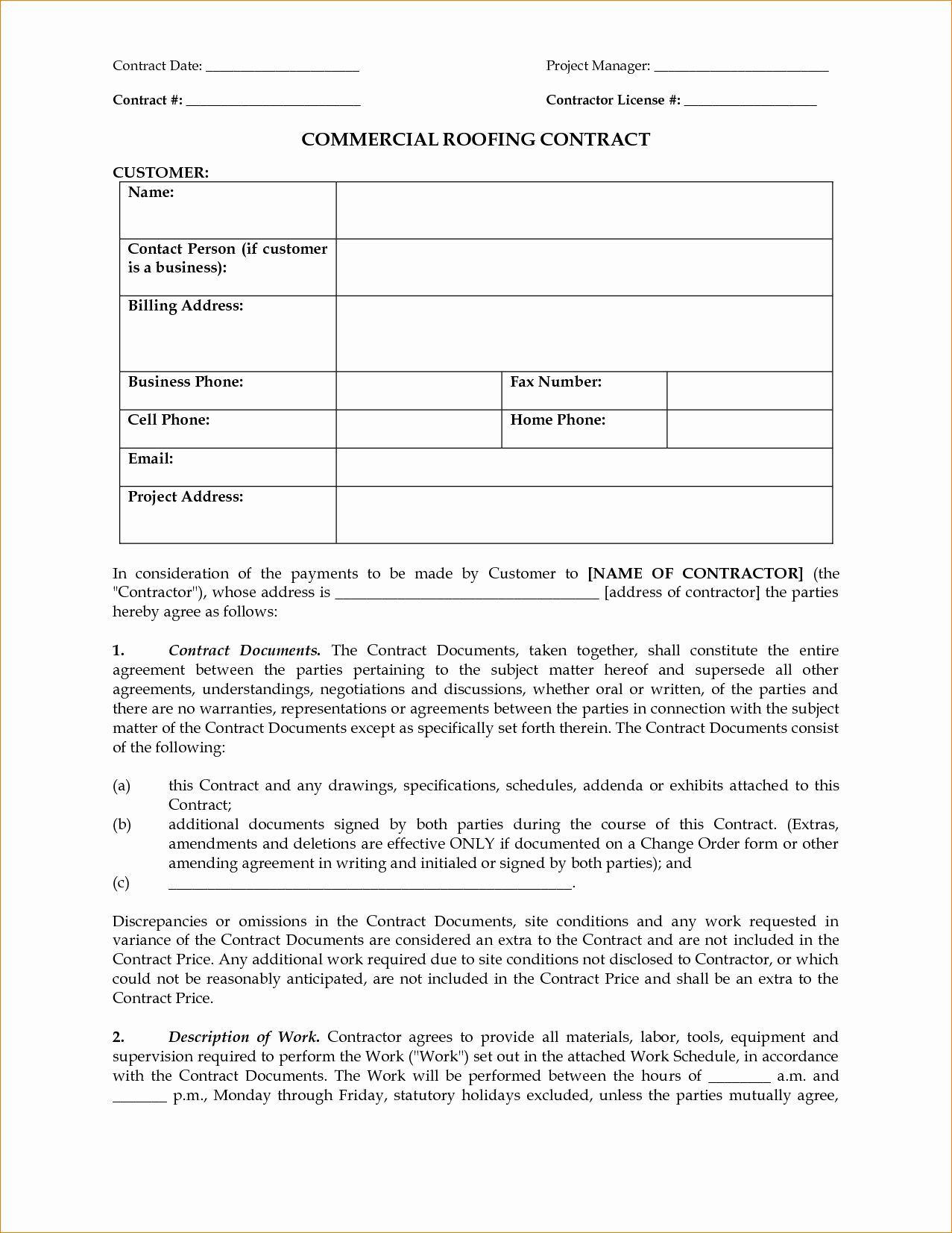 Free Residential Roofing Contract Template Beautiful Contract Roofing Contract Template Roofing Contract Contract Template Roofing Estimate Free residential roofing contract template