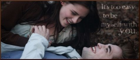 'It's yoo easy to be myself with you!' Edward to Bella, From the Book Twilight <3