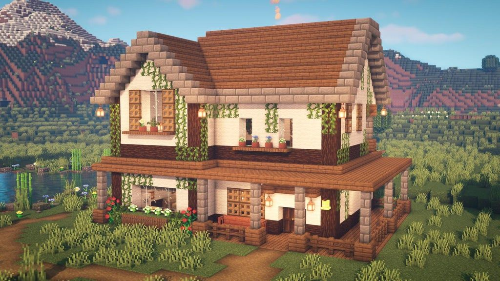 I made a farmhouse. I used wool to make it as walls to ...