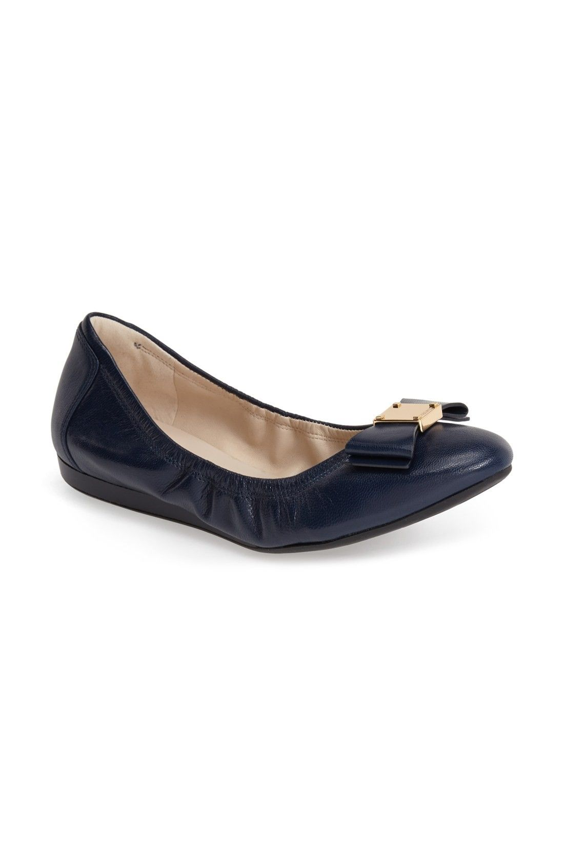 COLE HAAN | 'Tali' Leather Ballet Flat #Shoes #Flats #COLE HAAN