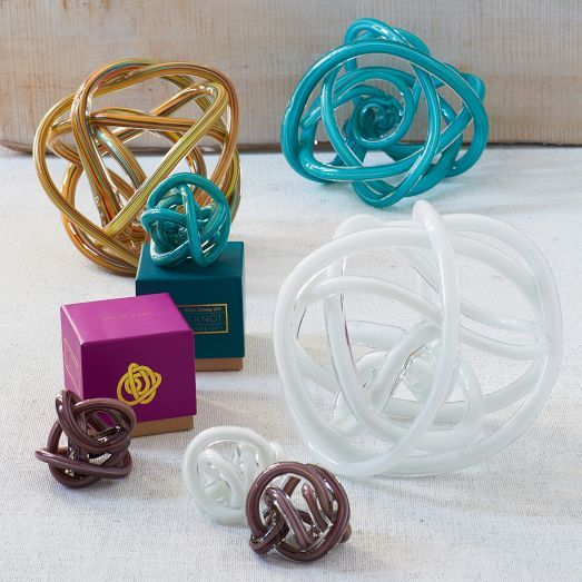 St. Jude® Glass Knot Paperweight | west elm