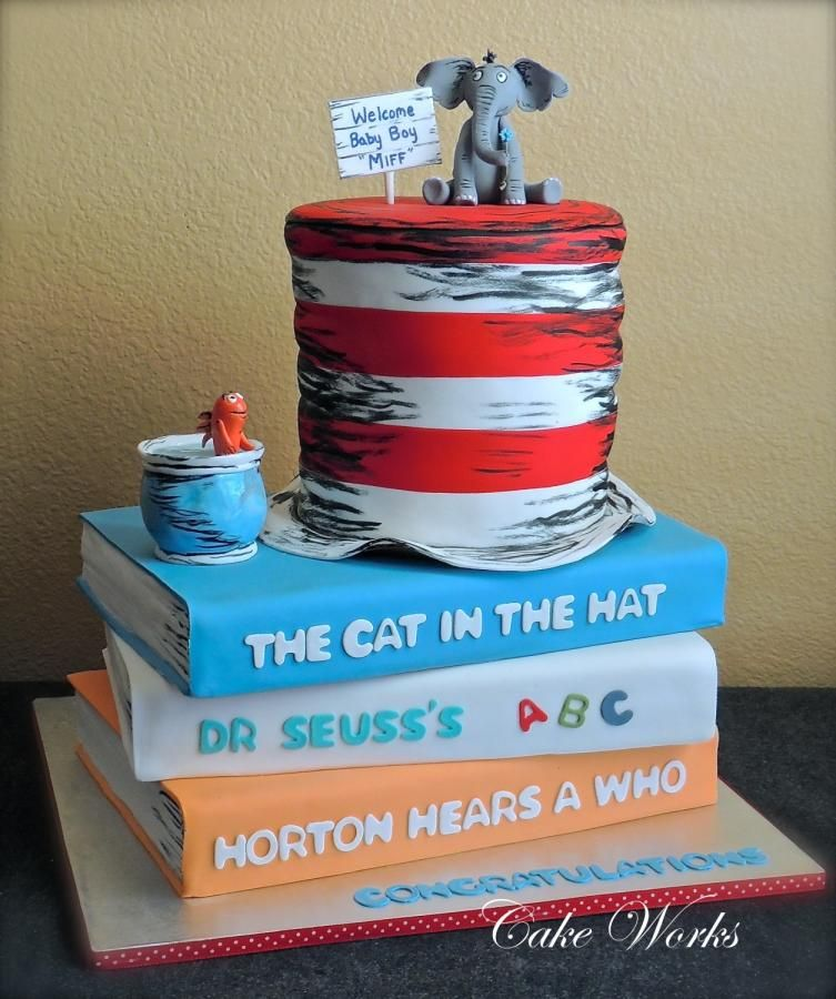Dr Seuss Baby Shower Baby Shower Cakes Dr Seuss Baby Shower