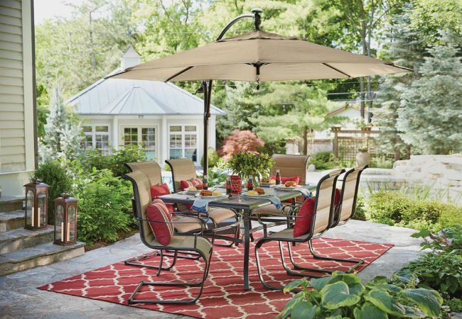 This Umbrella Has Solar Lights Under It To Light The Evening Up! Best Patio  Umbrellas: A Shopping Guide 3 Top Picks | Bob Vila