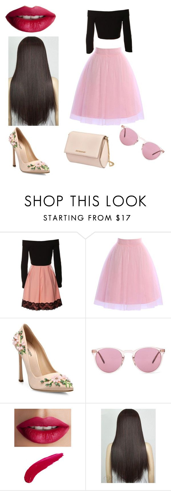 """""""Paris look"""" by bloemferre ❤ liked on Polyvore featuring Giambattista Valli, Oliver Peoples, TheBalm and Givenchy"""
