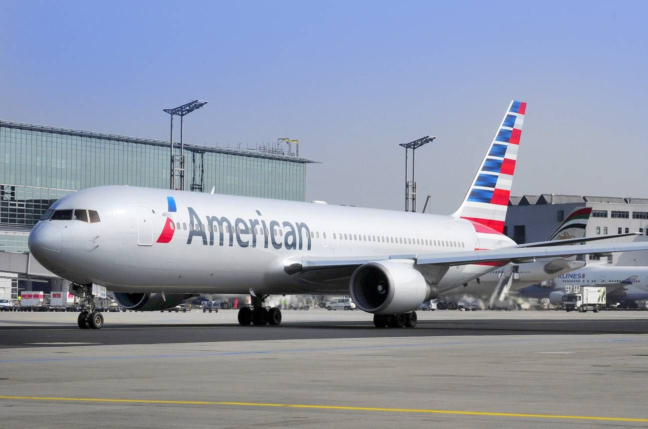 An American Airlines Boeing 767 In New Livery American