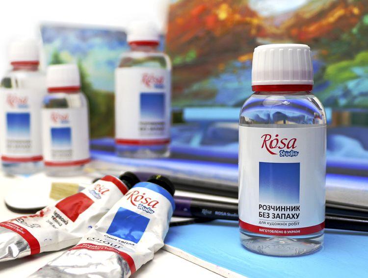ROSA Studio. Oil thinner. Art materials. Растворитель. Растворитель для масляных красок. Розчинник. Розчининк для олійних фарб.