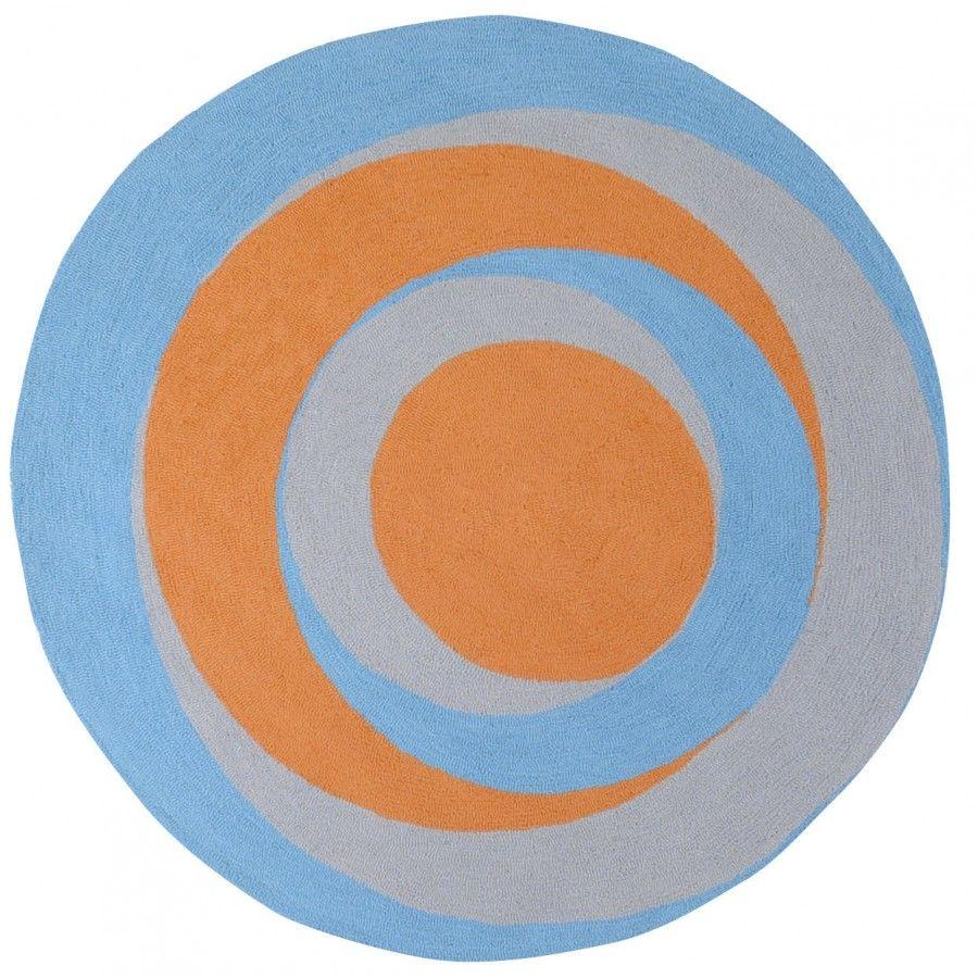 Surya Playground Blue / Orange Kids Round Rug - PLY6027
