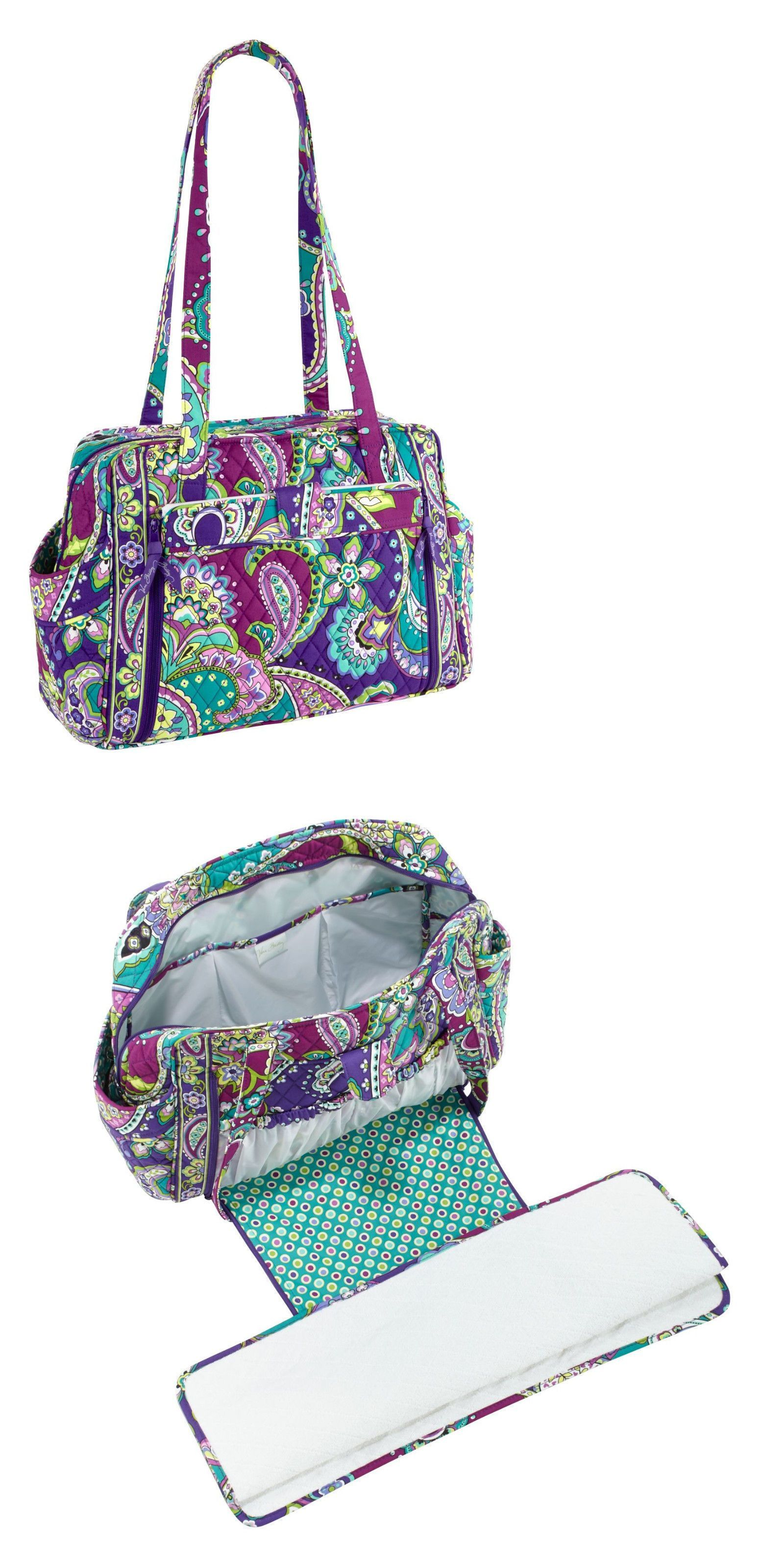 Diaper Bags 169295  New Vera Bradley Make A Change Baby Diaper Bag In Heather  Print 5f67f8290d1c9