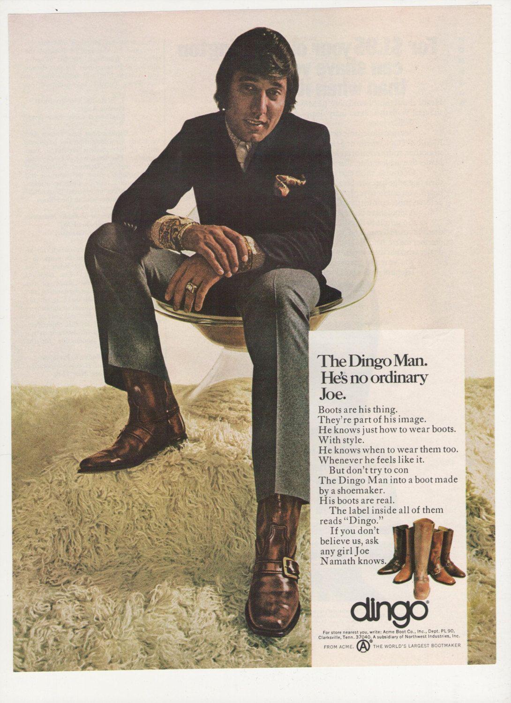 1970 Joe Namath Dingo Boots Advertisement NFL by fromjanet ...   1090 x 1500 jpeg 363kB