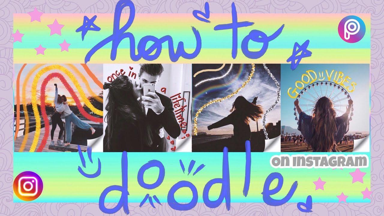 Instagram Doodles How to draw on photos ♡ rainbow
