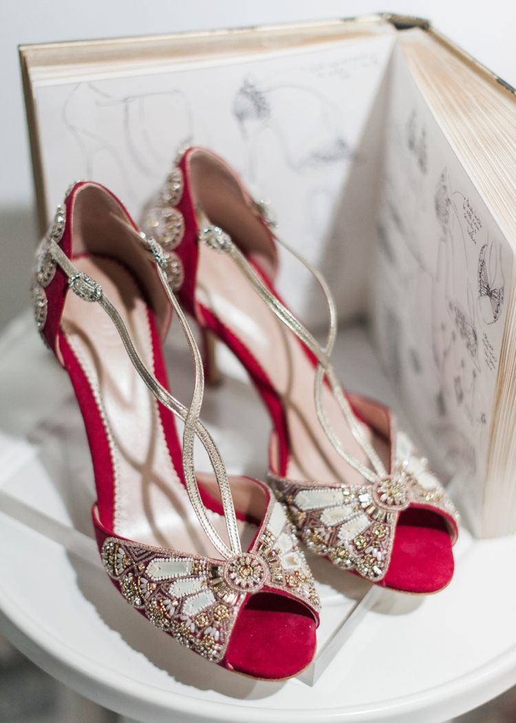 White Gallery London 2016 Wedding Shoes Heels Red Bridal Shoes