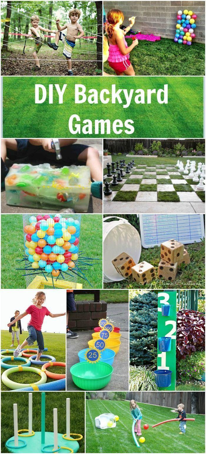 easy diy backyard games summer parties backyard and gaming