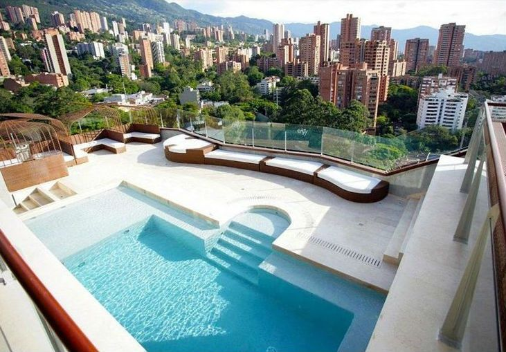 View From The Charlee Hotel In Medellin Colombia