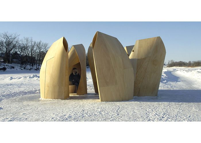 Patkau Architects Winnipeg Skating Shelters