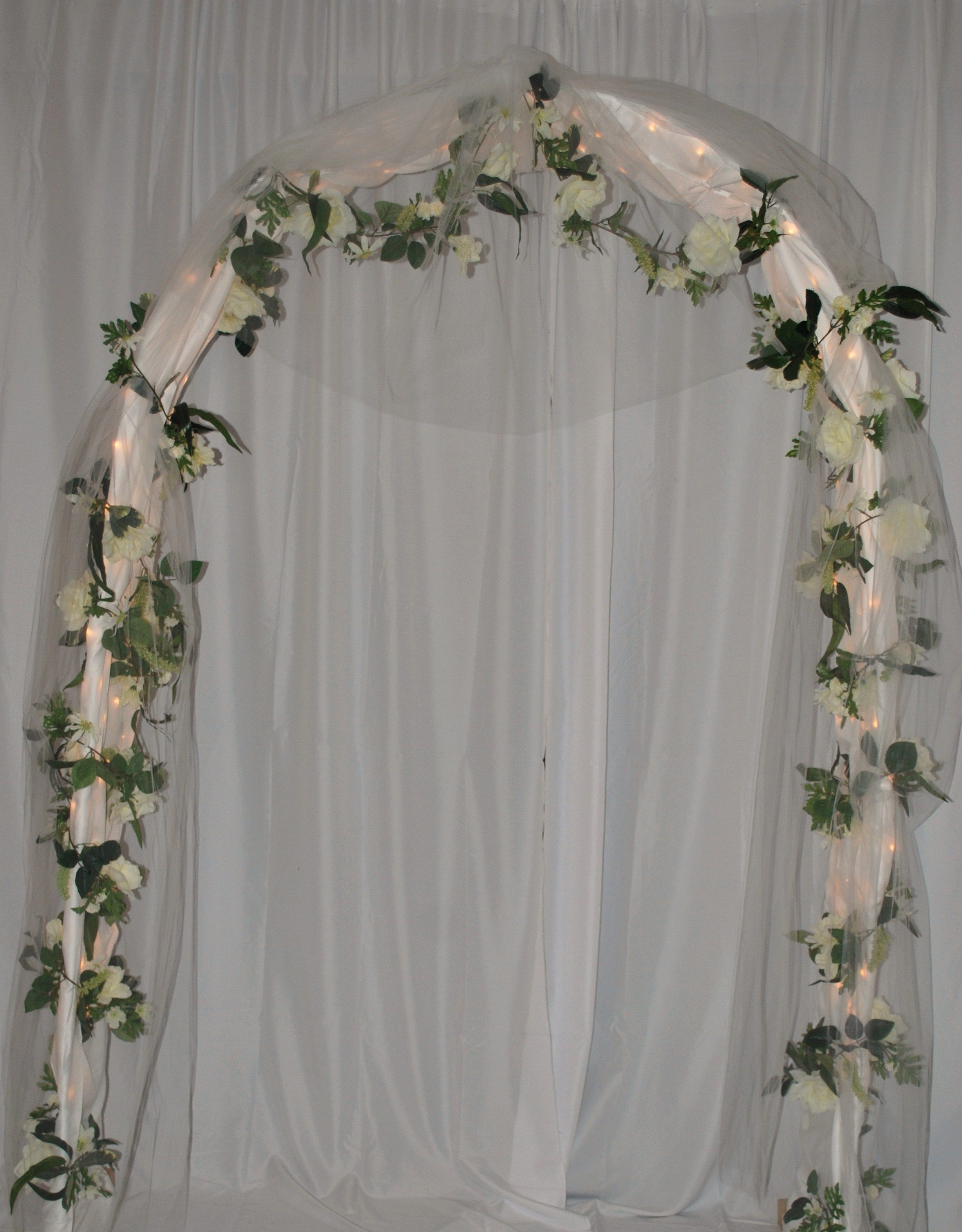 Wedding arches related searches for lighted wedding arch for Arch decoration pictures