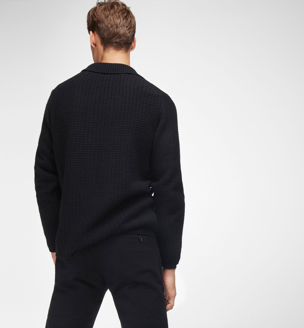 BLAZER-STYLE TEXTURED WEAVE CARDIGAN, Casual shirts - MEN - Massimo Dutti