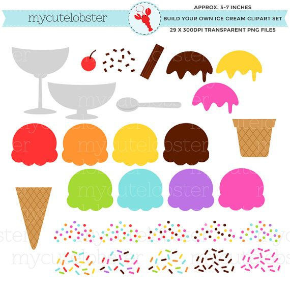 ice cream clipart set build your own ice cream clipart set ice rh pinterest com Make Clip Art Make Clip Art