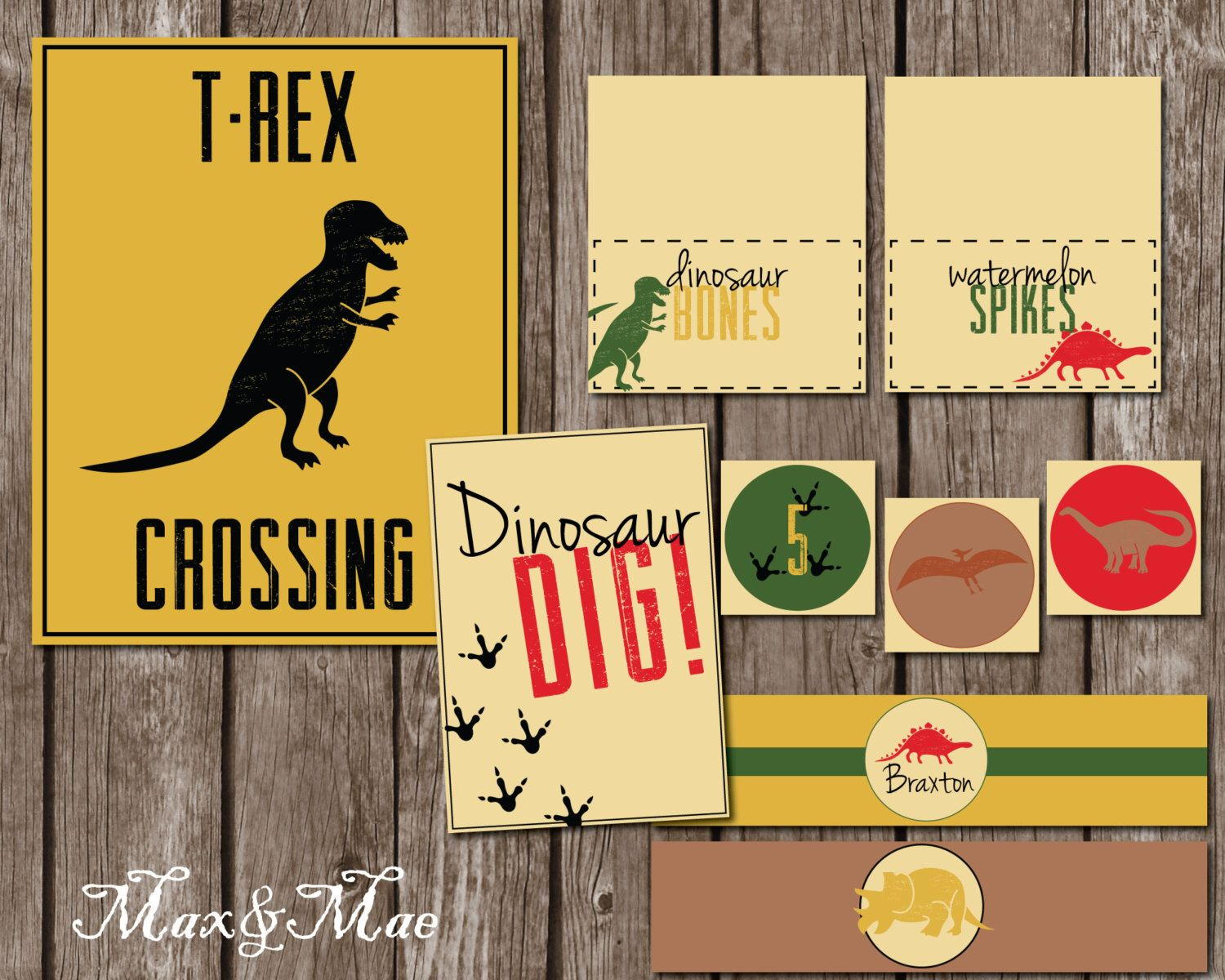 Dinosaur Party Decorations Dinosaur Birthday Party Printables T