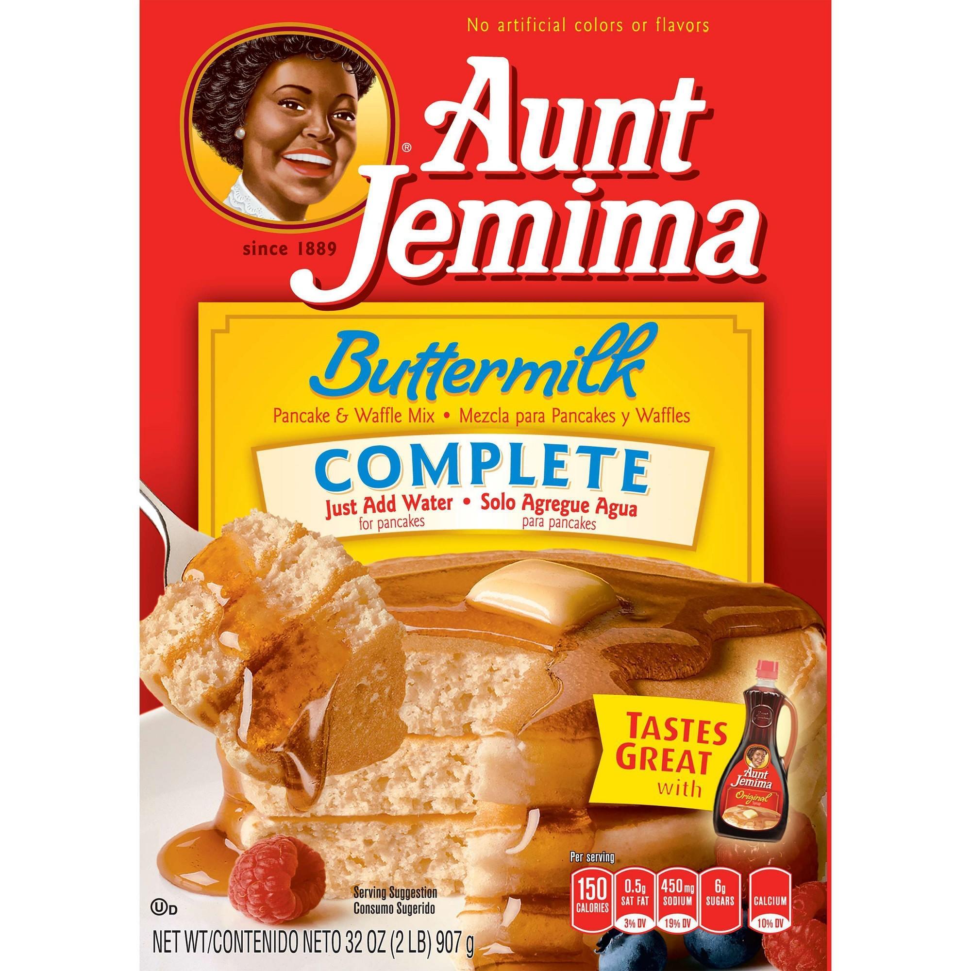 Aunt jemima complete buttermilk pancake waffle mix 32