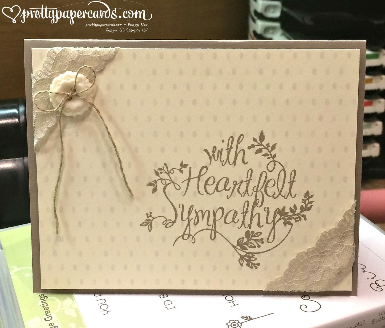 new sweet sympathy  paper cards