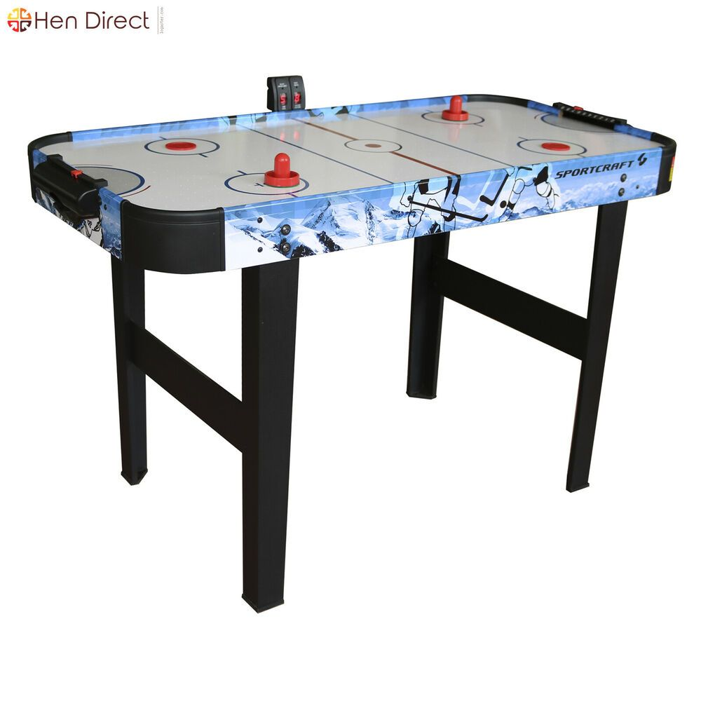 Sportcraft 48 Air Hockey Table With Electronic Scorer 2 Pushers