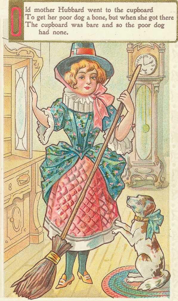 Mother Hubbard Childrens Illustrations Old Mother Hubbard Clip Art Vintage