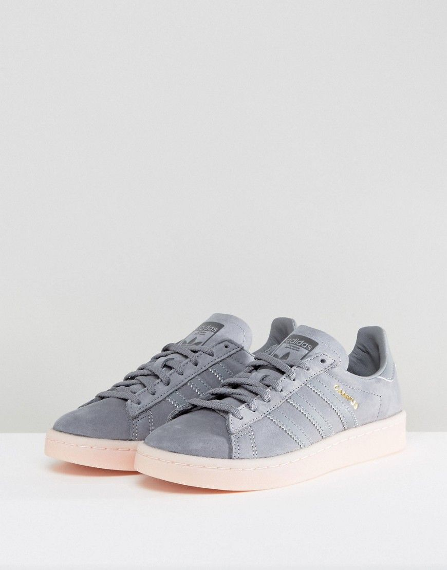 adidas Originals Campus Sneaker In Dark Gray Gray | Style