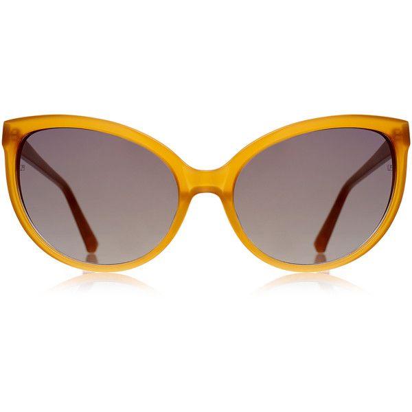 db7b7057c72 Linda Farrow Luxe Honey Acetate Cat-Eye Sunglasses (11