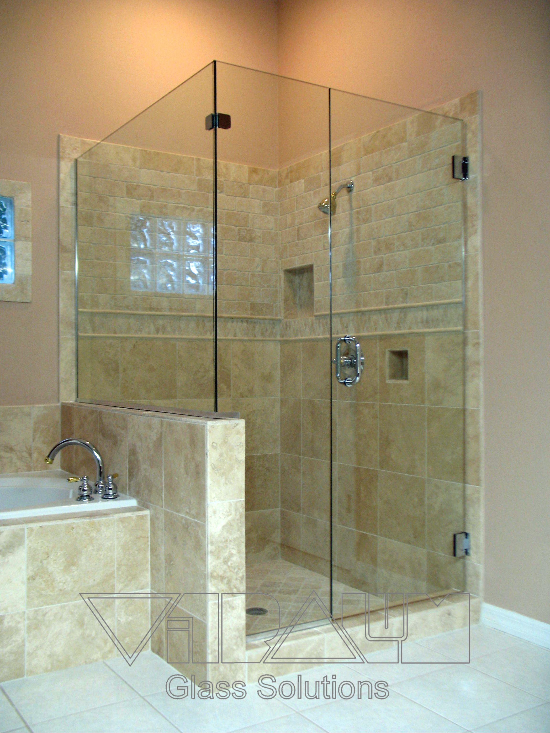 Vitralum Frameless Shower Door 2 Shower Cubicles Bathroom